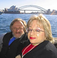 Julie Haraksin (with husband Ian Irwin) moved from California to Sydney, Australia, in 1990.