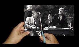 The first President Bush signs the ADA in 1990. Has the law been cut beyond recognition since then? Photo by Tom Olin