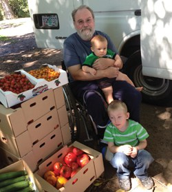 Tim Gilmer with his grandsons Peighton and Cooper.