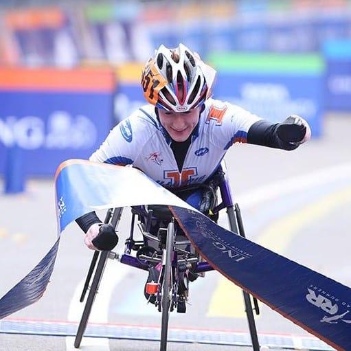Tatyana McFadden wins the New York City Marathon.