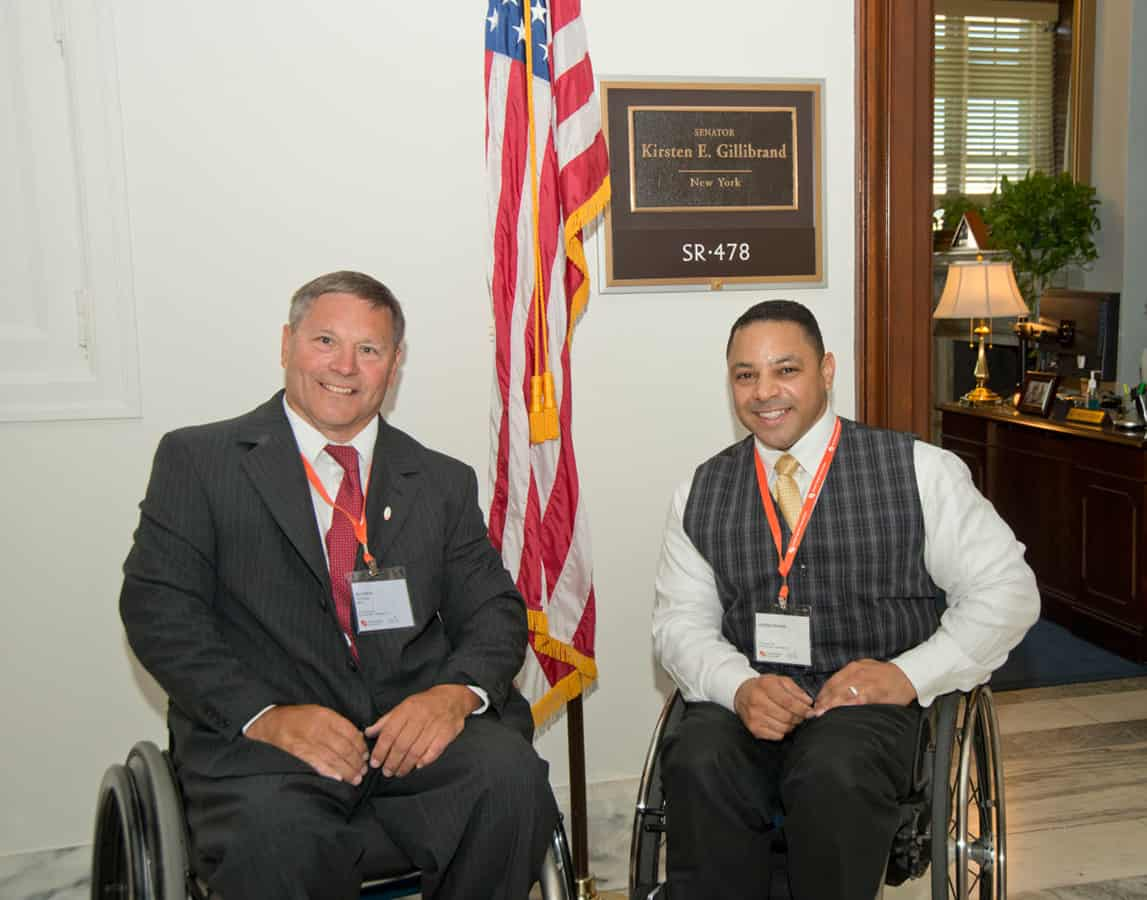 Bill Fertig and George Gallego at Sen. Gillibrands office