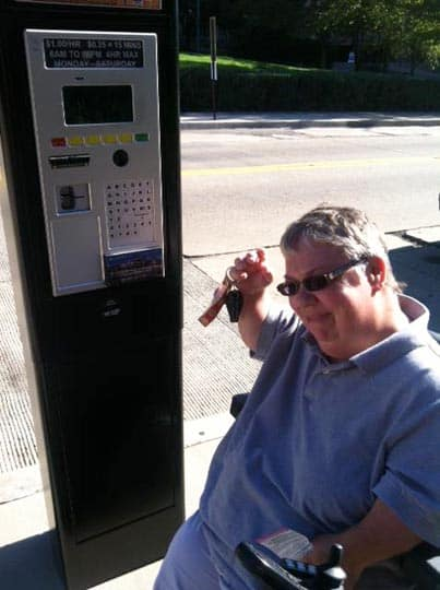 Pittsburgh parking meters are out of reach to wheelchair users.