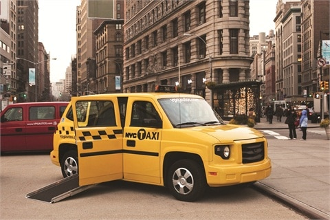 Soon hailing accessible cabs like this one in Manhattan will be possible.