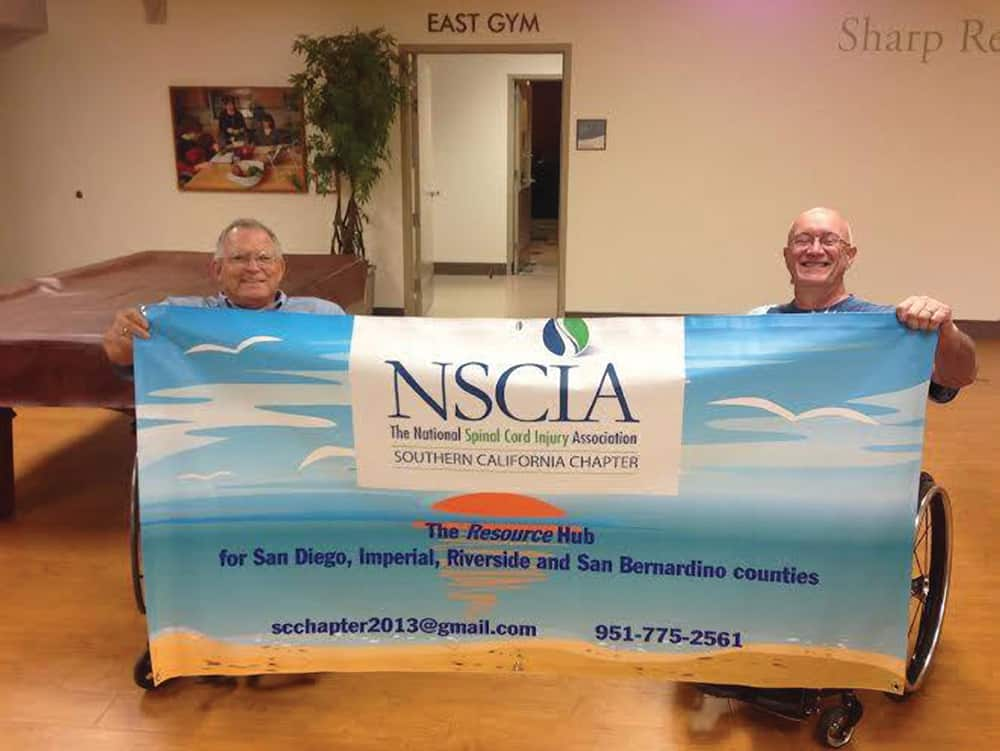 Steve Goldman, left, is the treasurer of the new SoCal chapter started by Rick Hayden, right.