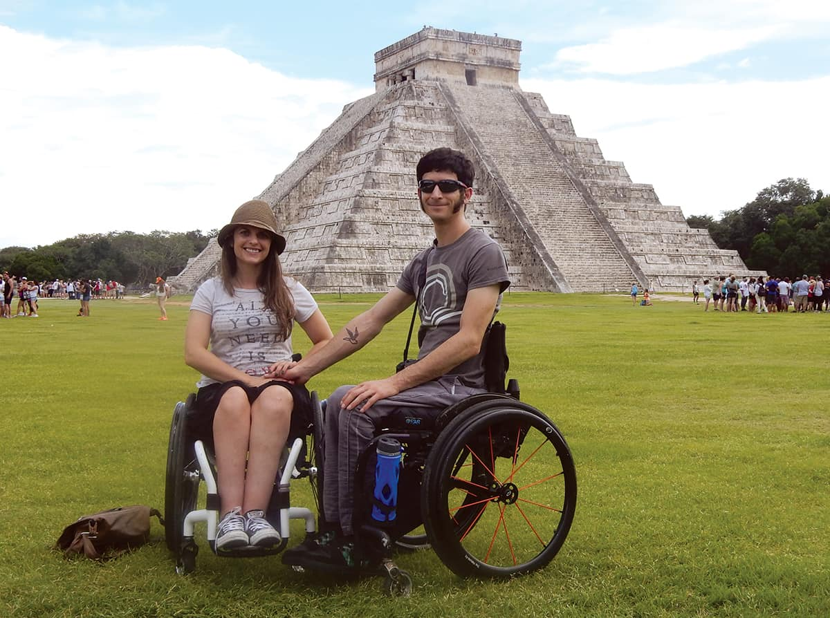 Much of Chichen Itza is flat, and wheelchair users get the same view of the iconic El Castillo pyramid as everyone else — no one is allowed on the stairs.