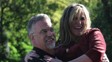 John Lawson and Carla Stone on their wedding day.