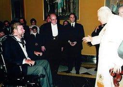 Kirk Kilgour meets Pope John Paul II