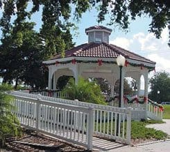 The ramped community gazebo in Venice beach, Fla., symbolizes the city's commitment to full inclusion for people with disabilities.