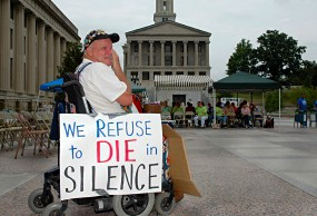 Activists protested Tennessee's draconian cuts to its enhanced Medicaid program, TennCare, every day for more than two months.