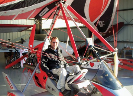 Lynn Murray's pre-injury self would not be able to make sense of his post-injury self flying an ultralight glider.