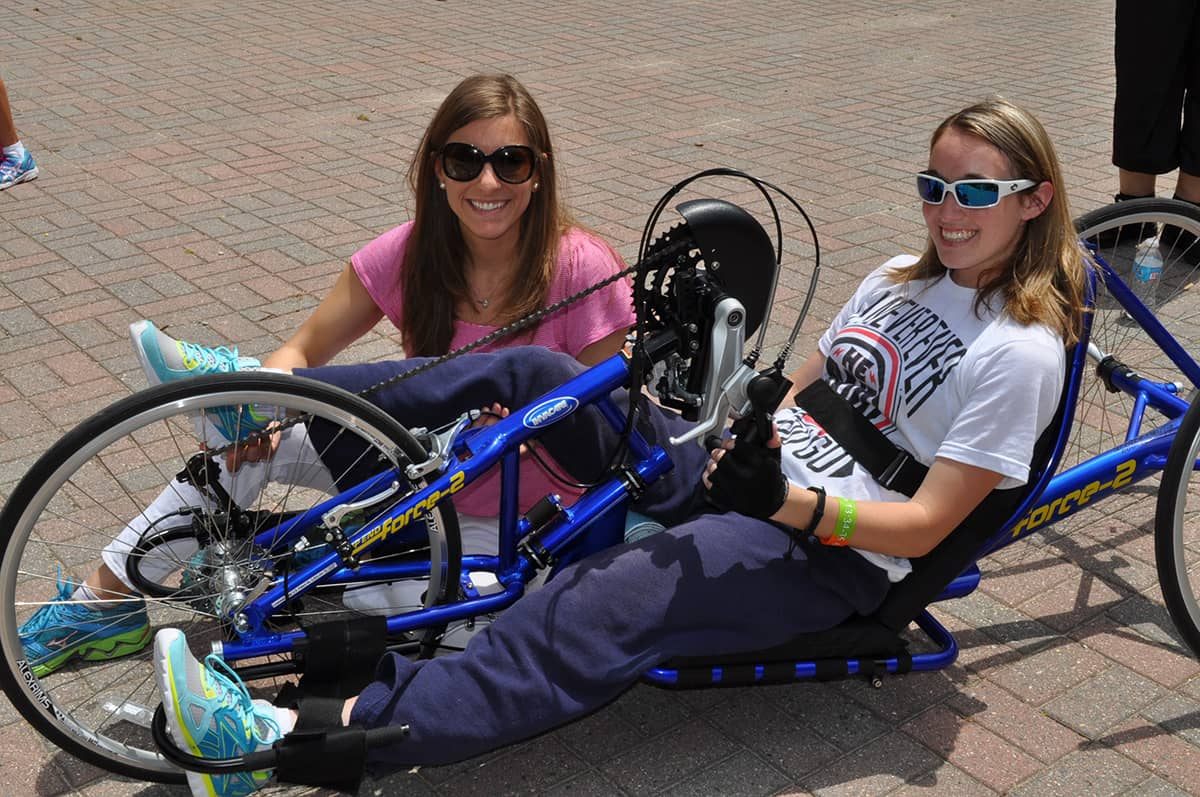NCSCIA's semi-annual handcycle clinics are popular with its members.